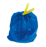 Мешок для мусора 120л., 10шт/рул. с завязками син. Чистая Планета/ 25