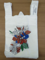 Пакет-майка  28/50 20мкм, Спасибо за покупку «Цветы» (100/4000шт)
